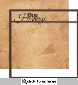Moments In Time: Our Heritage 12 x 12 Overlay Quick Page Laser Die Cut