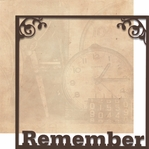 Moments In Time: Remember 12 x 12 Overlay Quick Page Laser Die Cut