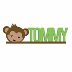Monkey: Custom Monkey Head Laser Die Cut