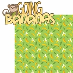 Monkey See Monkey Do: Going Bananas 2 Piece Laser Die Cut Kit