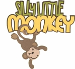 Monkey See Monkey Do: Silly Monkey Laser Die Cut