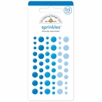 Monochromatic Blue Jean Sprinkles Glossy Enamel Sticker Dots