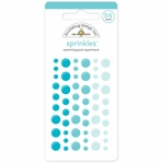 Monochromatic Swimming Pool Sprinkles Glossy Enamel Sticker Dots