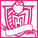 Monster's High School: Crest 12 x 12 Overlay Laser Die Cut