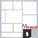 Morocco Theme Park 12 x 12 Overlay Laser Die Cut