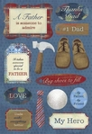 Mother & Father: #1 Father Cardstock Stickers