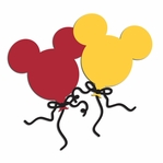 Mouse Balloons Head Laser Die Cut