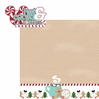 Mouse Christmas: Cocoa and Cookies 2 Piece Laser Die Cut Kit