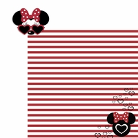 Mouse glasses: Minnie 2 Piece Laser Die Cut Kit