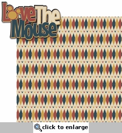 Mouse Memories: Love The Mouse 2 Piece Laser Die Cut Kit