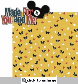 Mouse Memories: Made For You And Me 2 Piece Laser Die Cut Kit