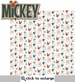 Mouse Memories: Mickey 2 Piece Laser Die Cut Kit