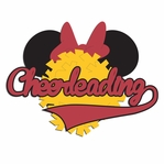 Mouse Sports: Mouse Cheerleading Laser Die Cut