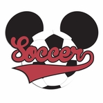 Mouse Sports: Mouse Soccer Laser Die Cut
