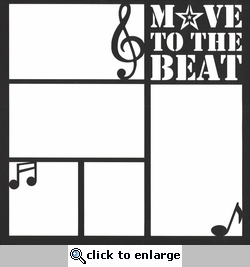 Move to the Beat 12 x 12 Overlay Laser Die Cut