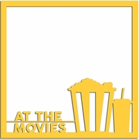 Movies 12 x 12 Overlay Laser Die Cut