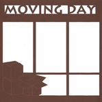 Moving Day 12 x 12 Overlay Laser Die Cut