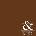 Mr. & Mrs. Custom 12 x 12 Paper