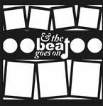 Music: And The Beat Goes On 12 x 12 Overlay Laser Die Cut