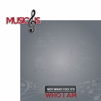 Music: Music is 2 Piece Laser Die Cut Kit
