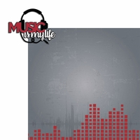 Music: Music Life 2 Piece Laser Die Cut Kit