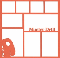 Muster Drill 12 x 12 Overlay Laser Die Cut