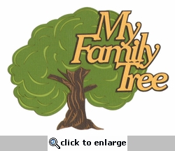 My Family Tree Laser Die Cut