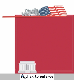 Nation's Capital: Lincoln Memorial 2 Piece Laser Die Cut Kit