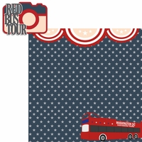 Nation's Capital: Red Bus Tour  2 Piece Laser Die Cut Kit