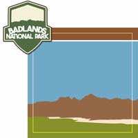 National Parks: Badlands 2 Piece Laser Die Cut Kit