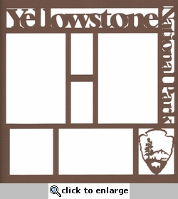 National Parks: Yellowstone 12 x 12 Overlay Laser Die Cut