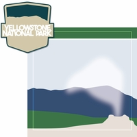 National Parks: Yellowstone 2 Piece Laser Die Cut Kit