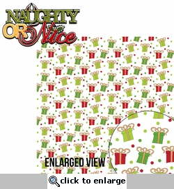 Naughty or Nice: Naughty or Nice 2 Piece Laser Die Cut Kit