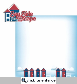 Nautical: Seaside Escape 2 Piece Laser Die Cut Kit