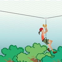 Nautical: Ziplining 12 x 12 Paper