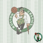 NBA Fanatic: Boston Celtics 12 x 12 Paper