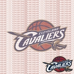 NBA Fanatic: Cleveland Cavaliers 12 x 12 Paper