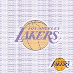 NBA Fanatic: Los Angeles Lakers 12 x 12 Paper