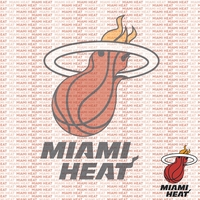 NBA Fanatic: Miami Heat 12 x 12 Paper