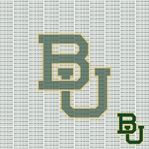 NCAA Fanatic: Baylor University 12 x 12 Paper