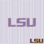 NCAA Fanatic: Louisiana State University 12 x 12 Paper