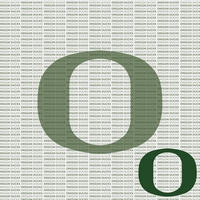 NCAA Fanatic: University of Oregon 12 x 12 Paper