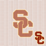 NCAA Fanatic: University of Southern California 12 x 12 Paper