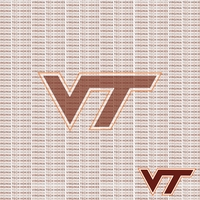 NCAA Fanatic: Virginia Tech 12 x 12 Paper