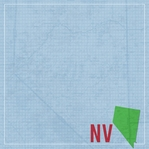 Nevada Travels: NV Map 12 x 12 Paper