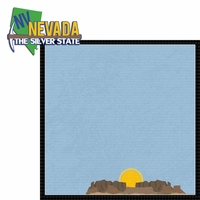 Nevada Travels: NV silver state 2 Piece Laser Die Cut Kit
