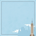 New York: Empire State Building 12 x 12 Paper