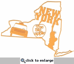 New York Outline With Images Laser Die Cut
