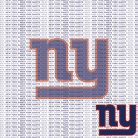 NFL Fanatic: New York Giants 12 x 12 Paper