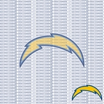 NFL Fanatic: San Diego Chargers 12 x 12 Paper